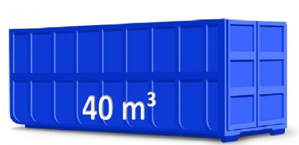 40 m³ Abrollcontainer für Baumischabfall