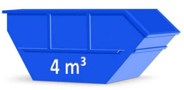 4 m³ Container für Sperrmüll / Entrümpelung